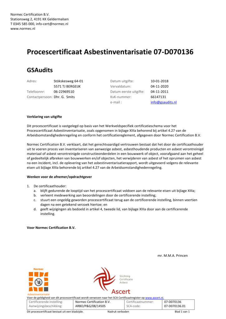 Certificaat 07-D070136